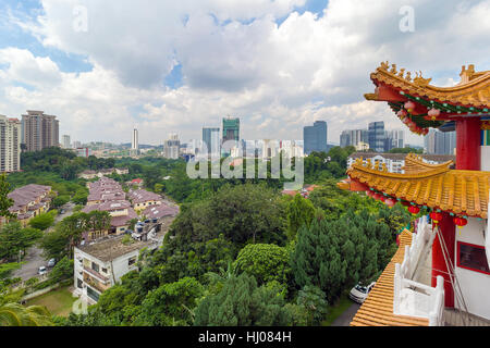 Kuala Lumpur scenic city view from Thean Hou Temple - Stock Photo
