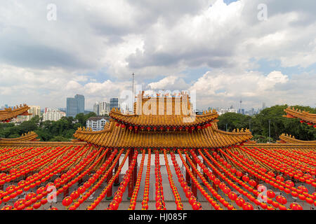 Kuala Lumpur scenic city view from Thean Hou Temple on Robson Heights - Stock Photo