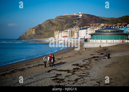 Aberystwyth Wales UK, Saturday 21 January 2017  UK weather: After a freezing cold night, with temperatures well - Stock Photo
