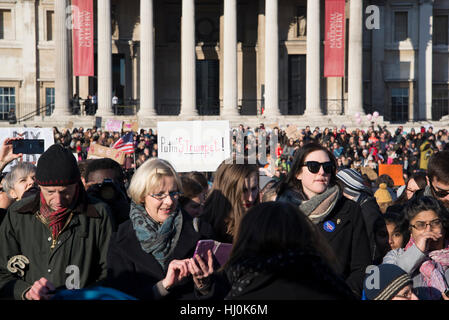 London, UK. 21st January, 2017. Women's March on London, Anti-Trump protest, London, UK. 21st Jan, 2017. Credit: - Stock Photo