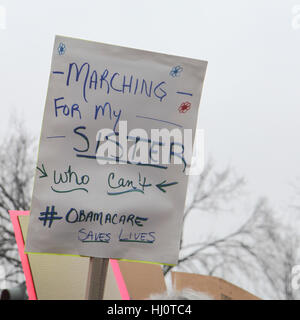 Washington, DC, United States. 21st Jan, 2017. Women's March on Washington. Credit: Susan Pease/Alamy Live News - Stock Photo