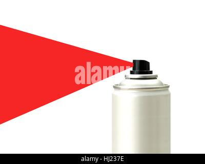 Aerosol spray cans isolated against a white background - Stock Photo