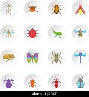 Insects icons set - Stock Photo