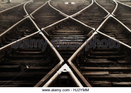 industry, traffic, transportation, fog, rail, dusk, manufacturing, station, - Stock Photo