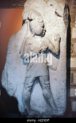 Hittite King or Figure with Dagger from the King's Gate of Bogazkale, formerly Bogazkoy or Boghazkoy, Site of the - Stock Photo