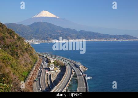 traffic, transportation, express, japan, bypass, road, mountain, street, - Stock Photo