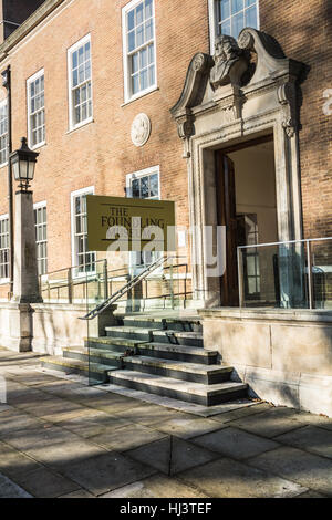 The entrance to the Foundling Museum, Coram's Fields, Bloomsbury, London, England, UK - Stock Photo