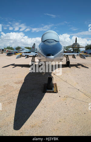 Northrop F-5B Freedom Fighter Trainer/Fighter (1965 - present) on display at Pima Air & Space Museum - Stock Photo