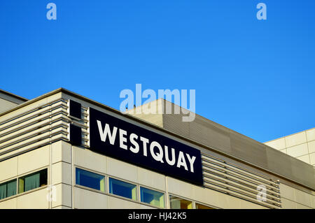 Westquay shopping centre in 2017, Southampton, UK - Stock Photo