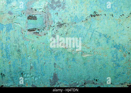 Background image of scratched antique copper vessel surface texture - Stock Photo