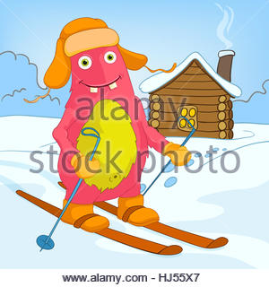 Skiing clipart skiing downhill vector athlete. Winter sports poster Stock Vector Art ...