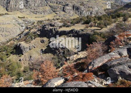 waterfall in el chalten - Stock Photo