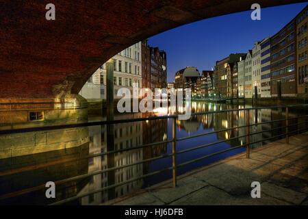 under the wooden bridge - Stock Photo