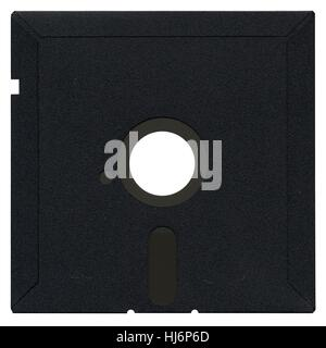 PC, computers, computer, isolated, vintage, disc, retro, magnetic, personal, - Stock Photo