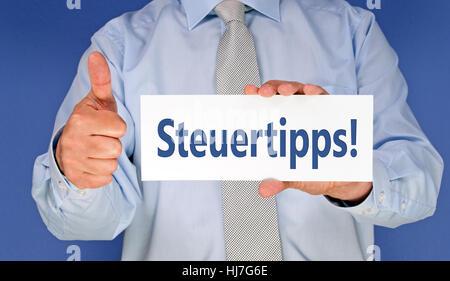 tax tips! - Stock Photo