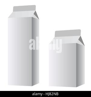 packaging for the dairy product. Vector EPS10 - Stock Photo