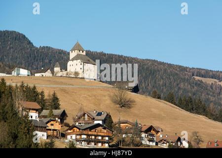 castle of St. Martin in Thun in Italy - Stock Photo