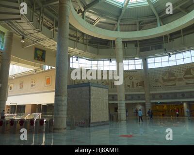 Atrium at Yenikapi Marmaray station, Istanbul - Stock Photo