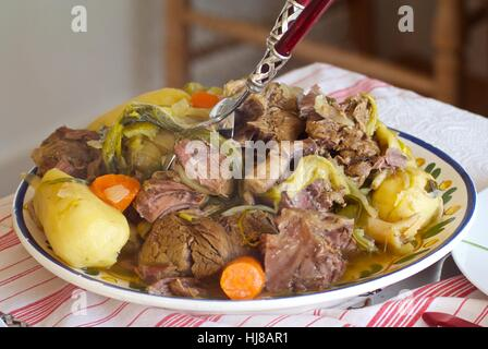 Pot au feu, typical French dish - Stock Photo