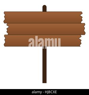 Blank Old Wooden Sign - Stock Photo