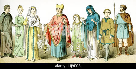 The figures represented here, from left to right, represent ancient Roman Christians. From left to right, they are: - Stock Photo