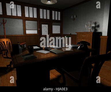 Office Backdrop Throughout Office Illustration Thriller Detective Detective Agency Backdrop Stock Photo Agency