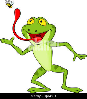 animal, wild, amphibians, hungry, cartoon, pick, danger, isolated, comic, - Stock Photo