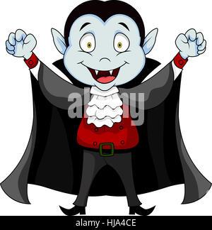 danger, vampire, cartoon, child, man, blue, laugh, laughs, laughing, twit, - Stock Photo
