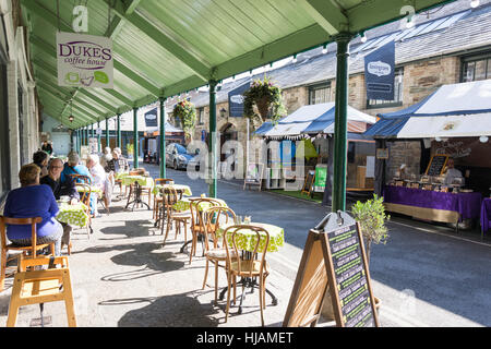 Duke's Coffee House in Tavistock Pannier Market, Tavistock, Devon, England, United Kingdom - Stock Photo