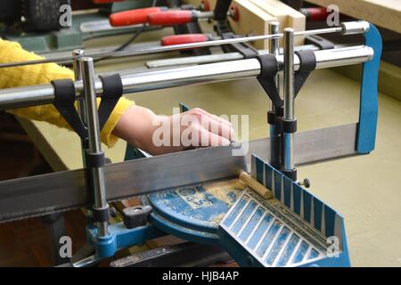 woodworking, joiner, carpenters, miter, business dealings, deal, business - Stock Photo