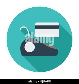 POS terminal. Single flat color icon. Vector illustration. - Stock Photo