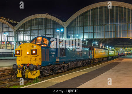 Class 37 diesel locomotive 37099 seen at Kingston Upon Hull on a Colas Rail operated test train. - Stock Photo