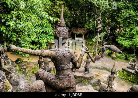 Secret Buddha Garden, Koh Samui, Thailand - Stock Photo