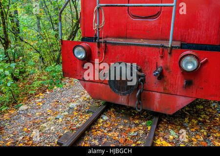 Close-up of locomotive - Stock Photo