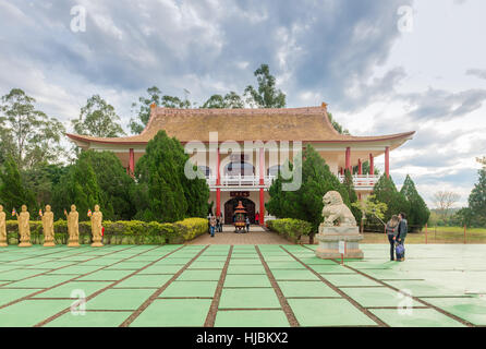 Foz do Iguazu, Brazil - july 8, 2016: Chinese building at the Buddhist temple complex in Foz do Iguazu, Brazil - Stock Photo