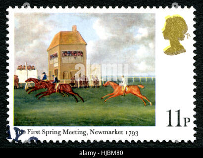 GREAT BRITAIN - CIRCA 1979: A used postage stamp from the UK, depicting an illustration entitled The First Spring - Stock Photo