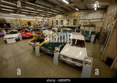 Classic cars of the Vauxhall Heritage collection kept at the car manufacturers factory in Luton, England - Stock Photo