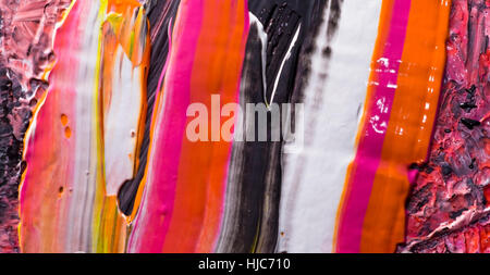 abstract acrylic hand-painted background texture - Stock Photo