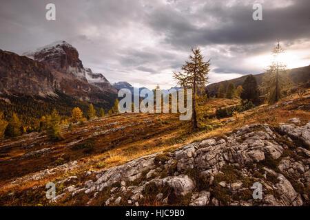 Mount Lagazuoi, Dolomite Alps, South Tyrol, Italy - Stock Photo