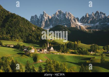 Santa Maddalena, Dolomite Alps, Val di Funes (Funes Valley), South Tyrol, Italy