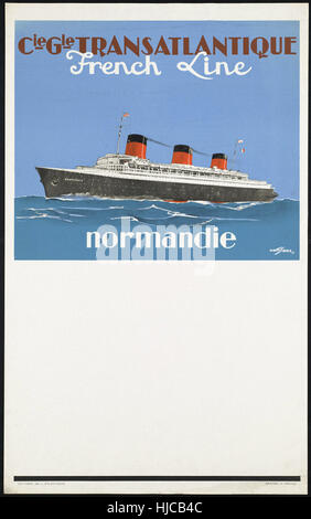 Normandie  - Vintage travel poster 1920s-1940s - Stock Photo