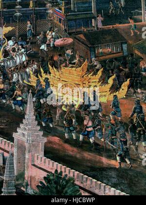 Mural painting of hindu god krishna stock photo royalty for Exterior mural painting
