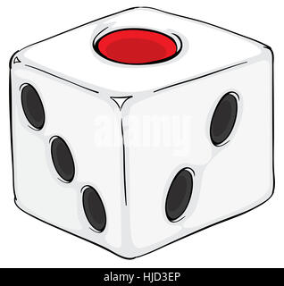 single, game, tournament, play, playing, plays, played, isolated, die, graphic, - Stock Photo