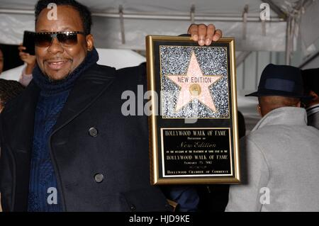 California, USA. 23rd Jan, 2017. Bobby Brown at the induction ceremony for Star on the Hollywood Walk of Fame for - Stock Photo