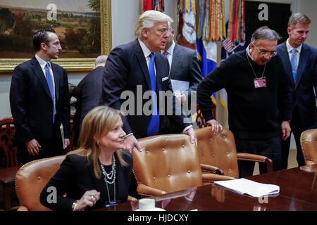 Washington, USA. 24th Jan, 2017. NO WIRE SERVICE. Washington, DC, USA. 24th Jan, 2017. US President Donald Trump - Stock Photo