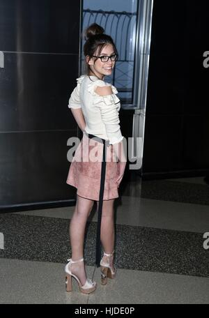 New York, USA. 24th Jan, 2017. Nickelodeon Game Shakers Star Madisyn Shipman visits Empire State Building in New - Stock Photo