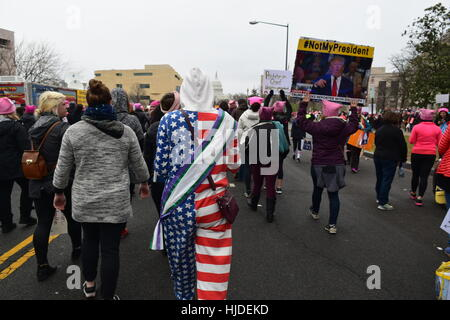 Washington, USA. 21st Jan, 2017. Women's March in Washington. Credit: Cristina Sanchez/Alamy Live News - Stock Photo