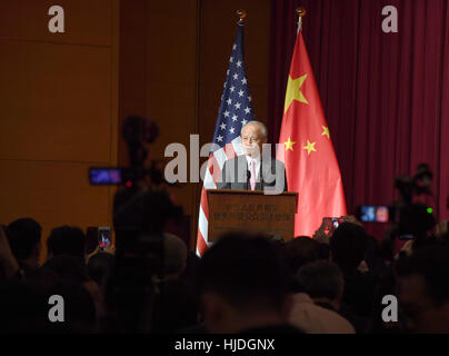 Washington, USA. 24th Jan, 2017. Chinese ambassador to the United States Cui Tiankai speaks during a Lunar New Year - Stock Photo