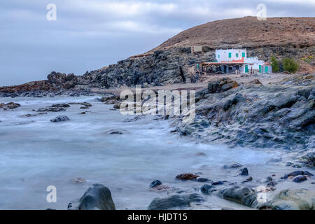 Playa Aguas Verdes, Betancuria, Fuerteventura, Canary Islands, Spain - Stock Photo
