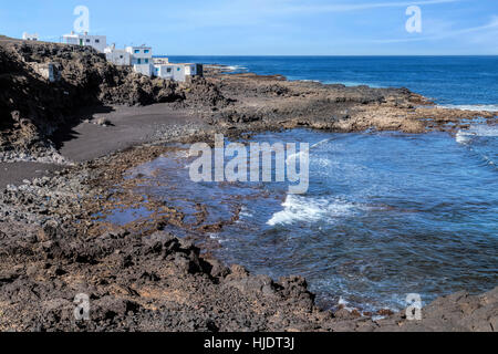 Tenesar, Tinajo, Lanzarote, Canary Islands, Spain - Stock Photo